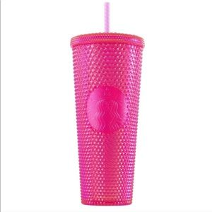 New Limited Edition Starbucks Hot Pink Studded